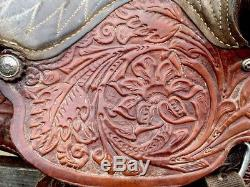 Vintage Easy Rider Saddle Co. Horse Saddle/Hand Tooled Leather With Silver USA