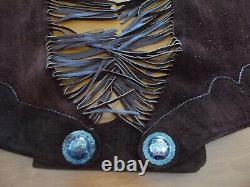 Vintage Equestrian Chaps Women's Handmade Leather Horse Showing Sterling Silver