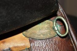 Vintage GG Kieffer Brown Leather Horse Saddle English 17 Munchen Dressage