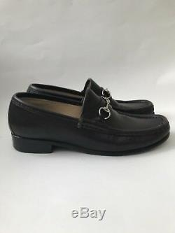 Vintage GUCCI Brown Leather Horse Bit Classic Loafers with Box Women's Size 7.5 B