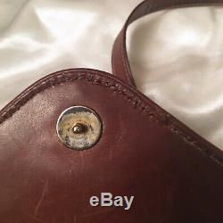 Vintage GUCCI Brown Suede Leather Crossbody Bag Purse Horse Bit