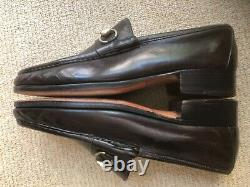Vintage GUCCI Dark Brown Sz 43, (9 1/2) Men Horse Bit Loafers