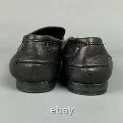 Vintage GUCCI Size 6 Black Leather Horse Bit Flats