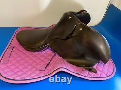 Vintage Genuine Leather 18 Horse Riding Brown Saddle