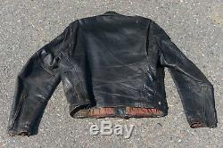 Vintage Grais pony horse hide leather motorcycle jacket 1950s