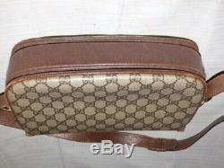 Vintage Gucci 1955 Horsebit brown Guccissima print shoulder bag