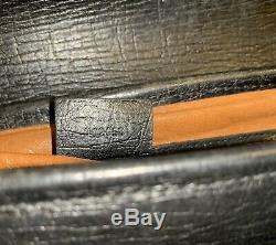 Vintage Gucci Bamboo Boston Bag Leather GG Doctor Handbag 141713
