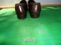 Vintage Gucci Brown Leather Horse Bit Loafers Men Shoe SZ# EUR 44