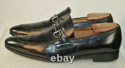 Vintage Gucci Horse-bit Loafers Style 353016 Made In Italy Men's Size 12 Black