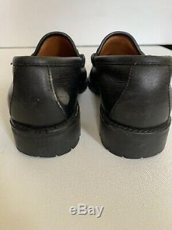 Vintage Gucci Horse bit black leather loafers women 7.5