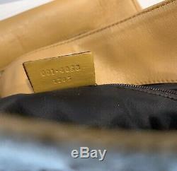 Vintage Gucci Shoulder Bag GG Monogram Clutch Purse Web Strap Handbag Bag