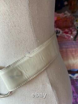 Vintage Gucci Silver Horse Bit Belt