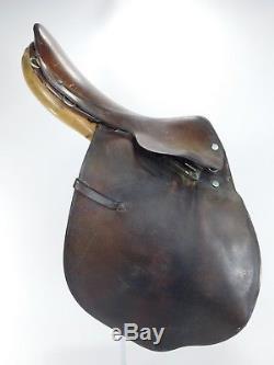 Vintage HERMES Paris Leather Horse Saddle Jumping Riding Equestrian 16 H250