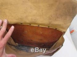 Vintage Hand Tooled Leather Saddlebags Easy Rider Biker Horse Buck Western