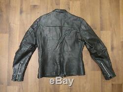 Vintage Harley Davidson Horse Hide Leather Jacket 1950's Cafe Racer Motorcycle