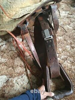 Vintage Hereford Brand Tex Tan of Yoakum Western Saddle Leather tooling horse