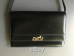 Vintage Hermes Handbag with Duc Carriage Horse Logo Shoulder or Clutch