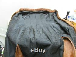 Vintage Horse Hide Leather Fur Coat Duster Trench Hair