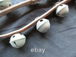 Vintage Horse Sleigh Bells, 23 Amish Brass Bells With Leather Strap, Ott-04807