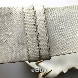 Vintage Judith Leiber Trojan Horse Lizard Skin Womens Belt