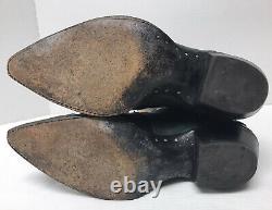 Vintage Larry Mahan CACTUS HORSE BRONC RIDING Cowboy Boots Green Women's 7 1/2