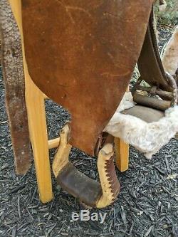 Vintage Leather 15 Western Horse Saddle Brown Nice Shape Unique