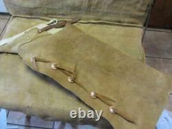 Vintage Leather Batwing Cowboy Chaps Antique Horse Bit Western Saddles 10150
