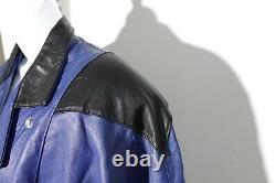 Vintage Leather Bomber Jacket Womens Size 10 Airbrushed Fairy on Pegasus