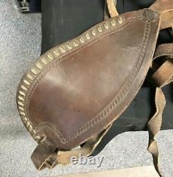 Vintage Leather Childs Saddle Horse Pony/Small Horse Western Stirrups JW247