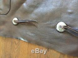 Vintage Leather Cowboy Chaps Batwing Horse Ranch Rodeo Western Wear
