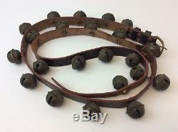 Vintage Leather Hercules B548 Bridal Horse Sleighbells Sleigh Bells Christmas