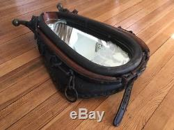 Vintage Leather Horse Collar Mirror Rustic Farm Ranch Cabin Decor Large 29X20