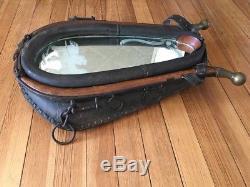 Vintage Leather Horse Collar Mirror Rustic Farm Ranch Cabin Decor Large 29X20