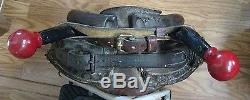 Vintage Leather Horse Collar with Mirror used