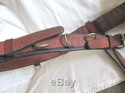 Vintage Leather Horse TRAINING SURCINGLE with Crupper Harness Racing Saddle