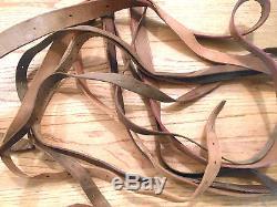 Vintage Leather Horse Tack Pieces Parts Gear Ware