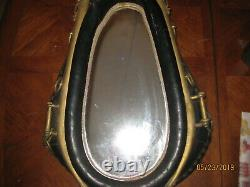 Vintage Leather Orginial Horse Collar Mirror with Harness & Rings Western Decor