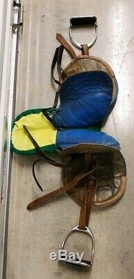 Vintage Leather Race Horse Saddle