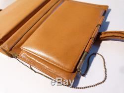 Vintage Leather SWAINE BRIGG Horse Racing Handbag Bag, Pen, Kigu Compact etc