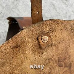 Vintage Leather Saddle Bags Horse Motorcycle Chopper Harley Custom Hand Made