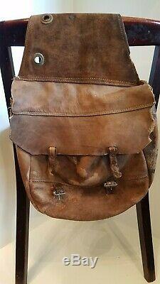 Vintage Leather Saddle Bags Satchel Antique Horse Western Saddles Bag Mail