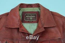 Vintage Marlboro Classics Lederjacke Horsehide Leather Jacket Biker Cordovan