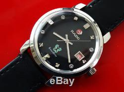 Vintage Men's Rado Green Horse Automatic Serviced Black Date 37.7mm