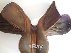 Vintage Michael Longland Saddler Horse Back Saddle Brown Leather (England Made)