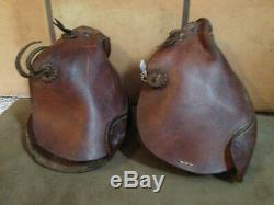 Vintage Monkey Nose Stirrups Western Leather Horse Tack