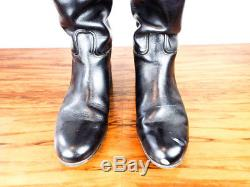 Vintage Morales Horse Riding Mens Custom Boots Black Leather Size 9W