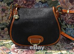 Vintage NWOT Dooney and Bourke Horse Shoe Shoulder Bag Dark Chocolate Mint