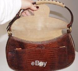 Vintage New Etro Paisley Pegasus Winged Horse Shoulder Bag Brown Handbag Suede