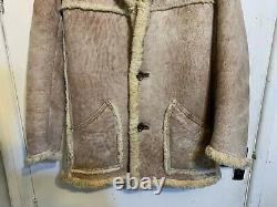 Vintage Nursey's Leather Sheepskin Jacket Size 40 / M Dell Boy Only Fools Horses