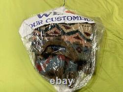 Vintage ORIGINAL RELEASE Ralph Lauren Aztec Wool Cowboy Hand Knit Sweater RARE